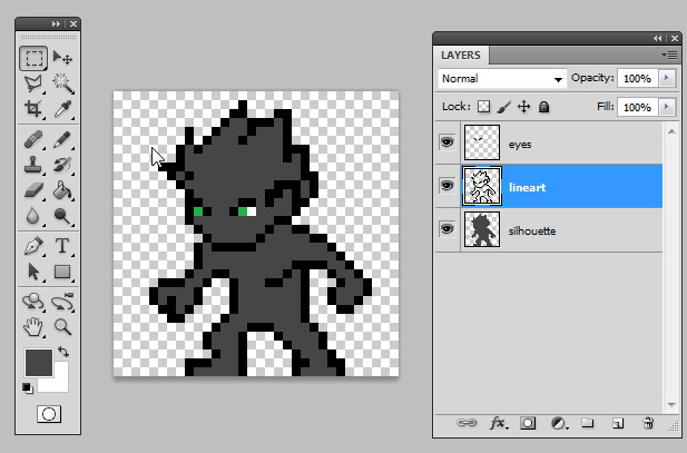 Drawn pixel art Pixel Art Lineart to Introduction