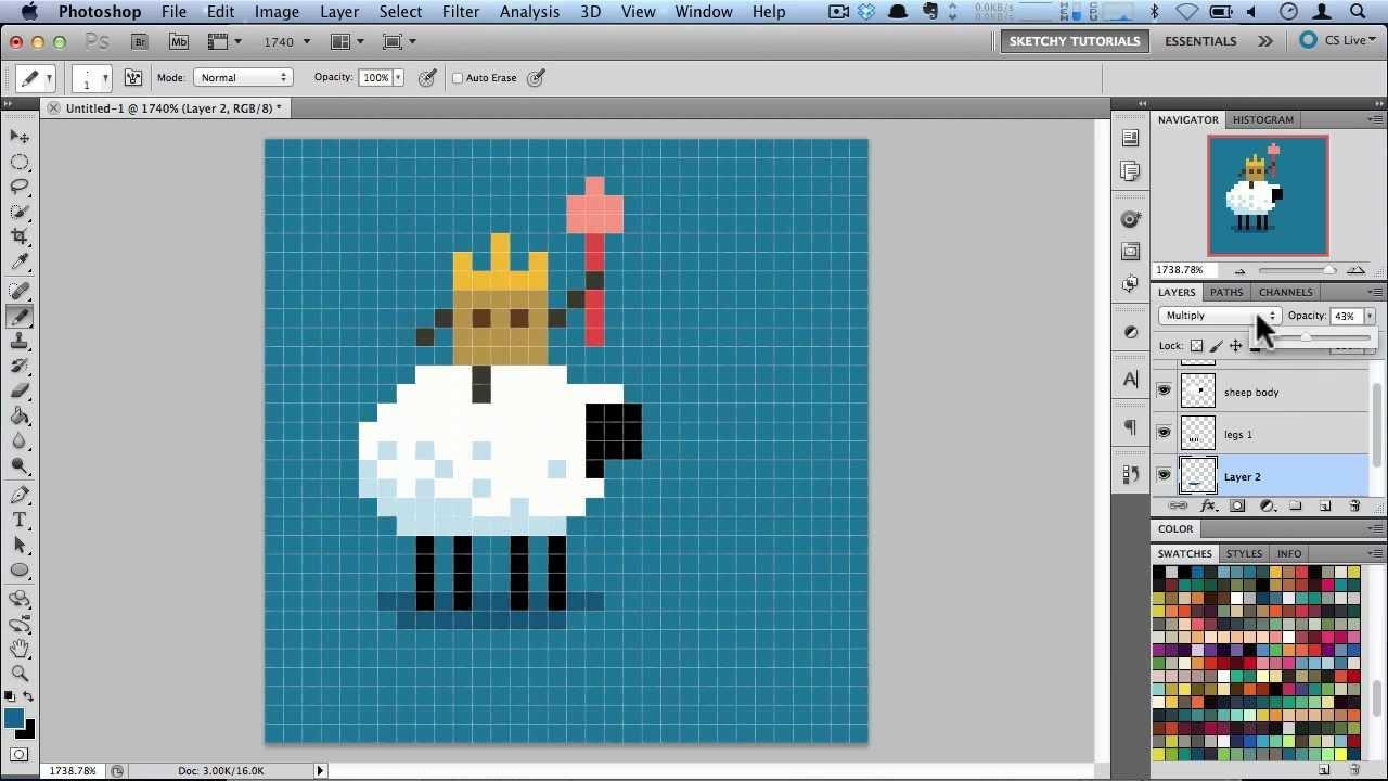 Drawn pixel art 32 bit  Art Pixel Photoshop in