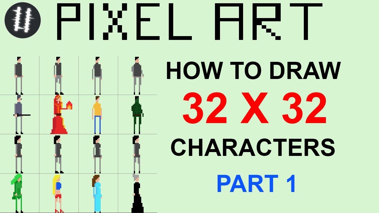 Drawn pixel art 32 bit Unsubscribe Pixel  Character (Part