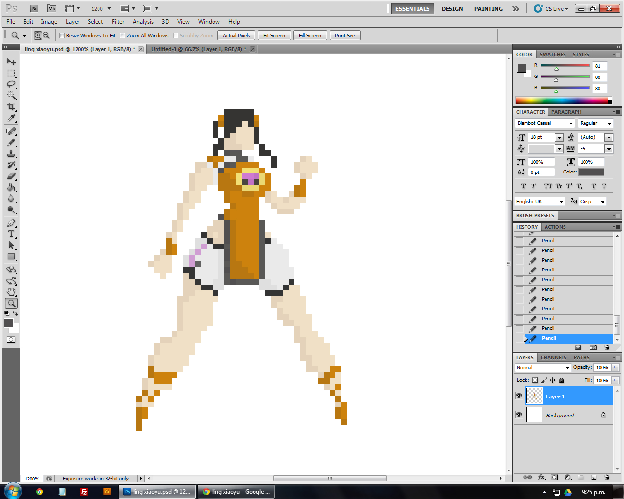 Drawn pixel art 32 bit Now with Setting for Web