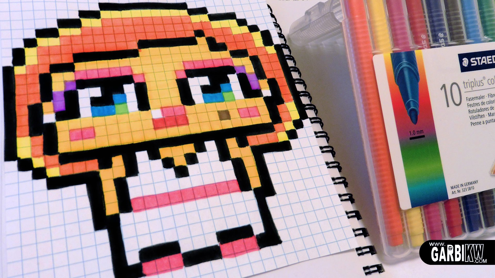 Drawn pixel art Marilyn YouTube How a Pixel