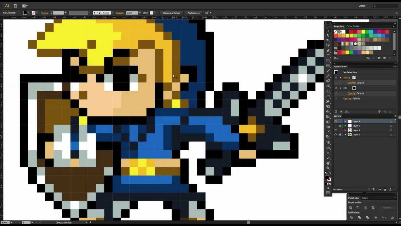 Drawn pixel art 64 bit YouTube  Create Adobe Illustrator
