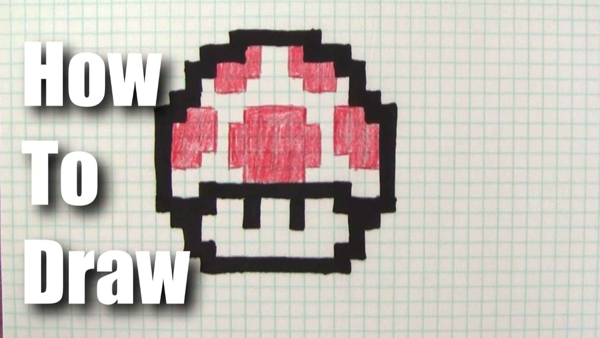 Drawn pixel art 8 bit Draw How Mario Mushroom a