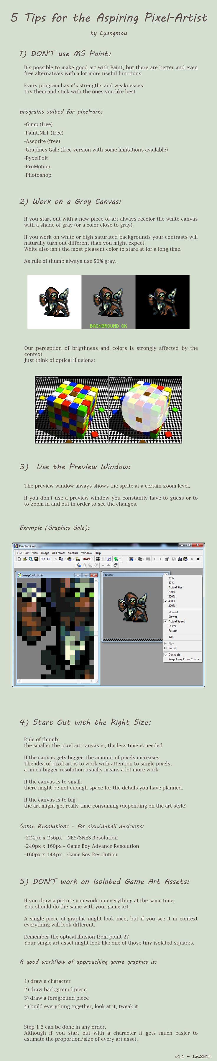 Drawn pixel art advanced Cyangmou 5 Artist Tips best