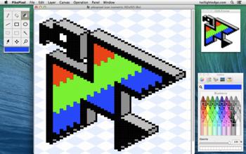 Drawn pixel art advanced Mac tools the popup for