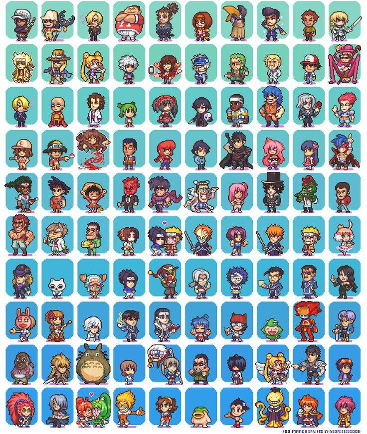 Drawn pixel art anime 223 on Pixel Pinterest images