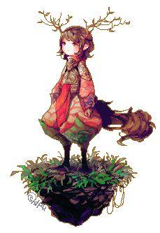 Drawn pixel art anime Art on @DeviantArt  Google