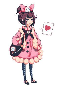 Drawn pixel art anime chibi Pixel Search tumblr sprites Google