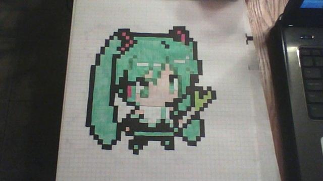 Drawn pixel art anime chibi By Chibi 0 gaaraofthesandbox Pixel