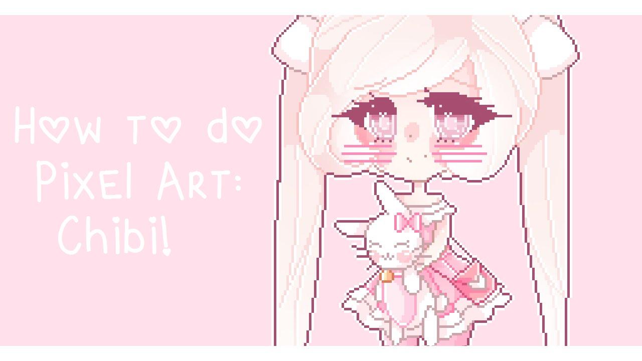 Drawn pixel art anime chibi How Art: do to Pixel