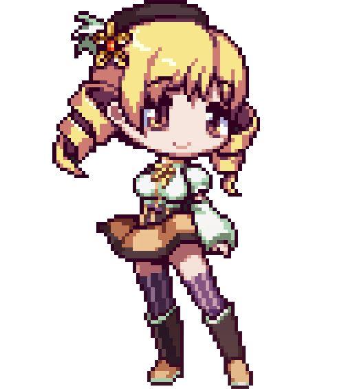 Drawn pixel art anime chibi Fuego more Pin Mami art