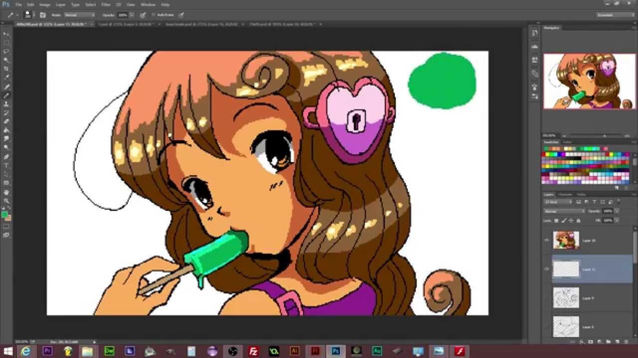 Drawn pixel art anime chibi Girl Art Draw: Character Anime