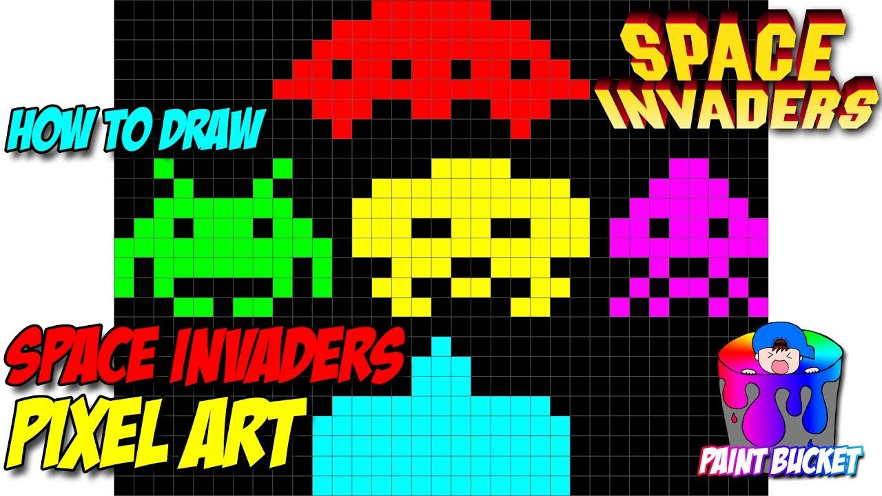 Drawn pixel art arcade Arcade Bit YouTube Space Bit