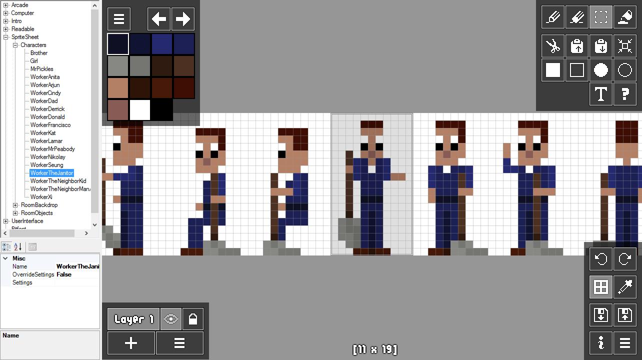 Drawn pixel art arcade A pipeline PixelMaker to for