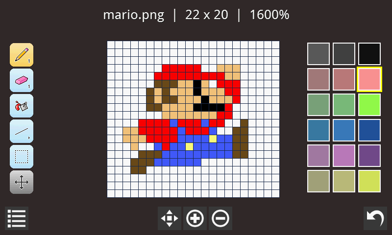 Drawn pixel art bitmap On Apps Play Editor Pixel