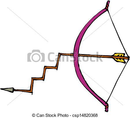 Drawn pixel art bow and arrow Clip Bow csp14820368 arrow Vector