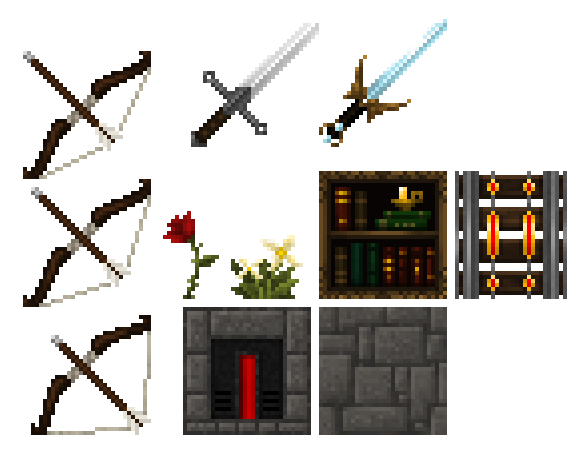 Drawn pixel art bow and arrow To Discussion Guide Minecraft Packs