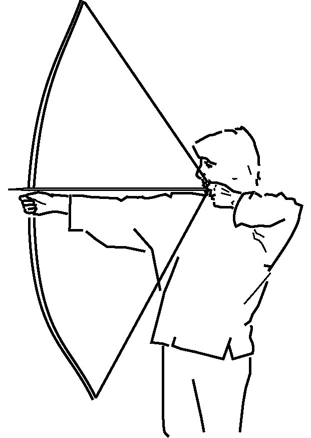 Drawn pixel art bow and arrow Bow File:A arrow shooting Wikipedia