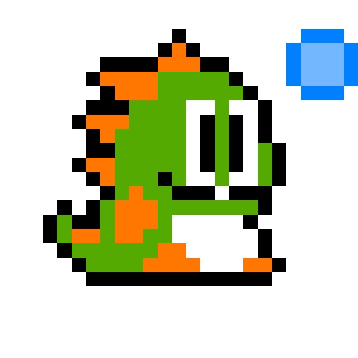Drawn pixel art bubble 100x100 by bobble Bubble pixel