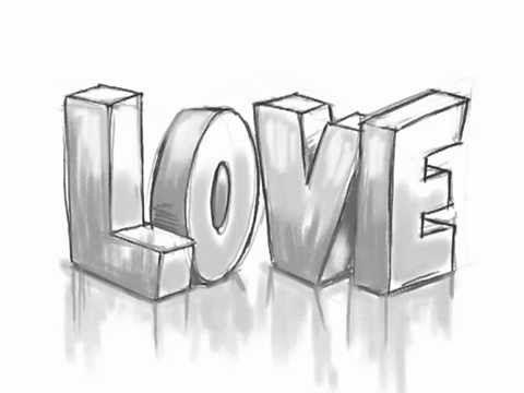 Drawn typeface 3d bubble letter Graffiti WARM best LOVE This