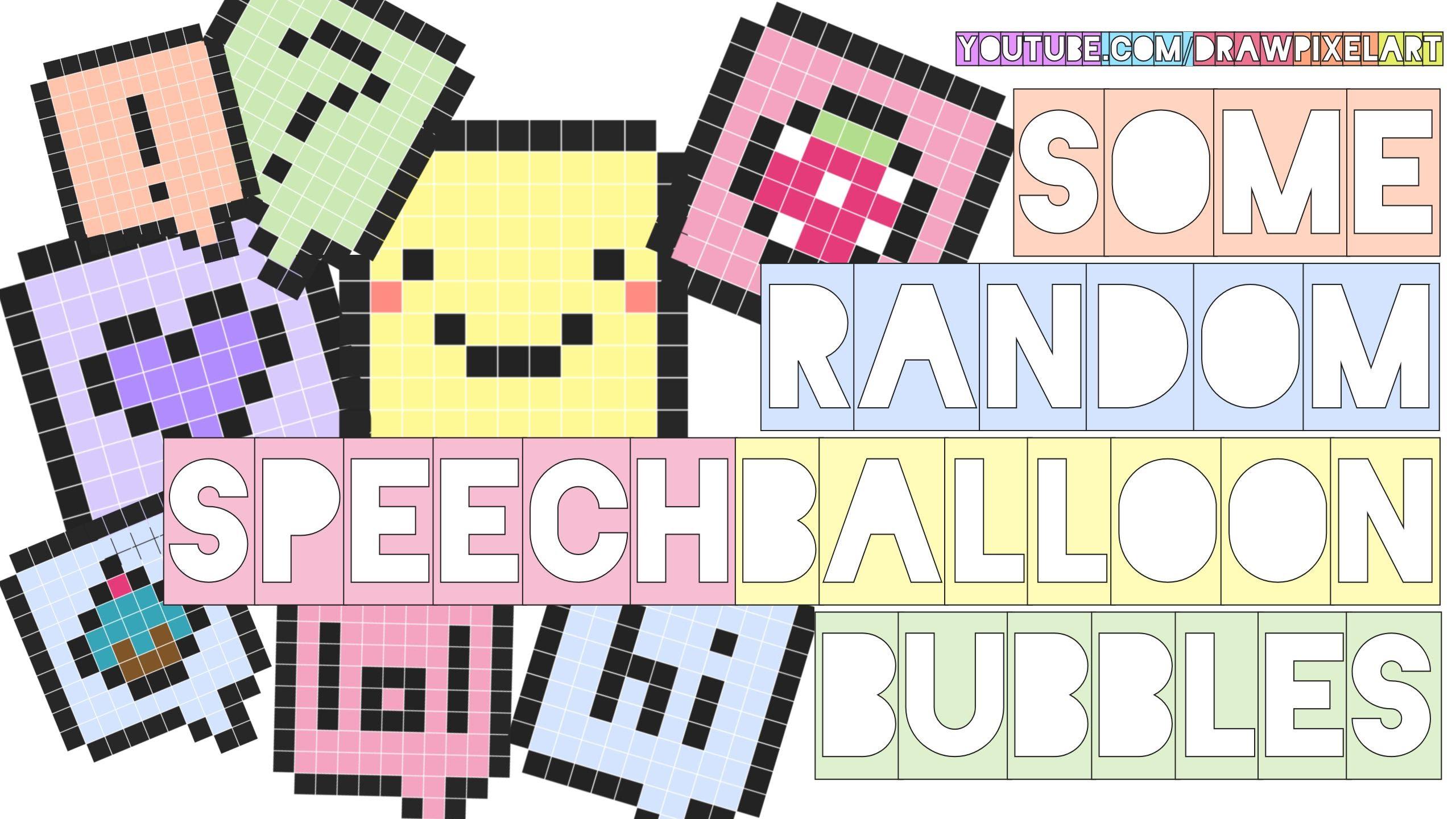 Drawn pixel art bubble Bubbles easy to random how