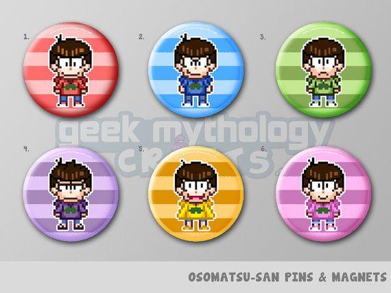 Drawn pixel art button Ichimatsu Pins ideas Anime Osomatsu