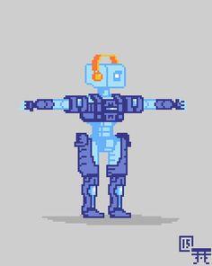 Drawn pixel art button Pixel created Sprays bit Zenyatta