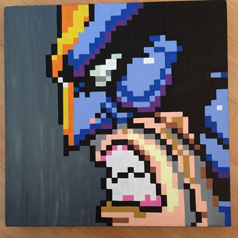 Drawn pixel art canvas #5