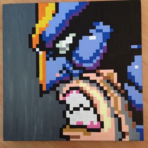 Drawn pixel art canvas Crafts photos #wolverine & Art