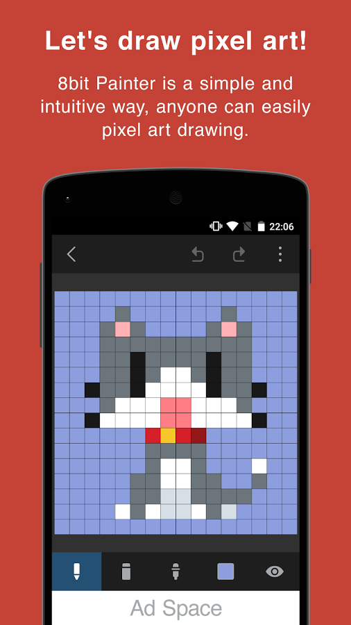 Drawn pixel art canvas Is picture Android you a