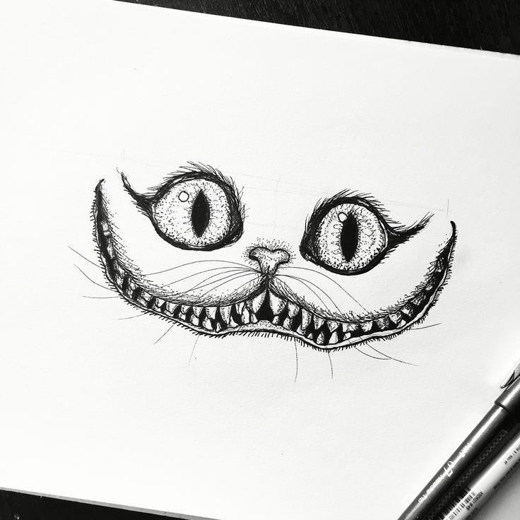 Drawn cheshire cat creative Cat #drawing #sketchbook #art #sketch