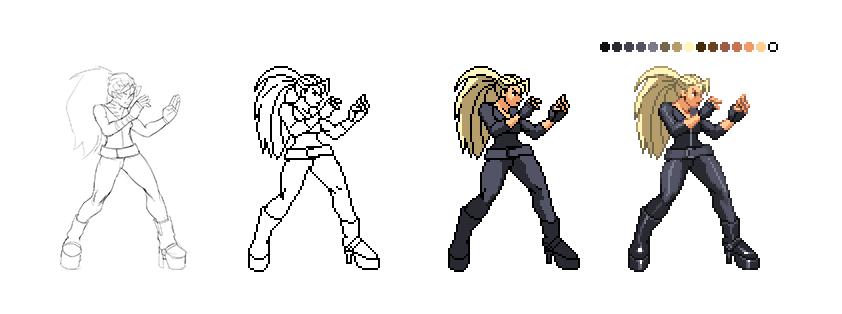 Drawn pixel art character #4