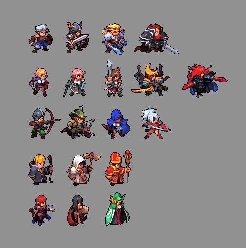 Drawn pixel art character ArtGame PixelJoint DrawingPixel com Hero