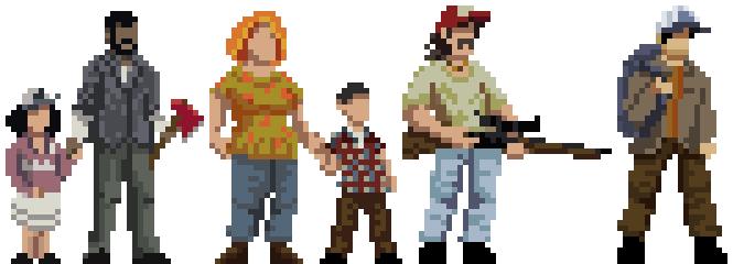 Drawn pixel art character #6