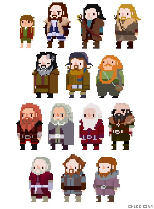 Drawn pixel art character 29 Pin Pixel and Find