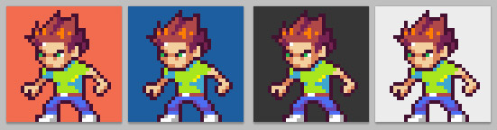 Drawn pixel art character Introduction for to Different Games