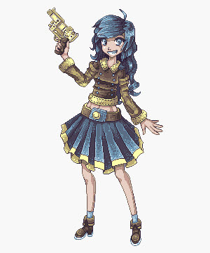 Drawn pixel art character #1