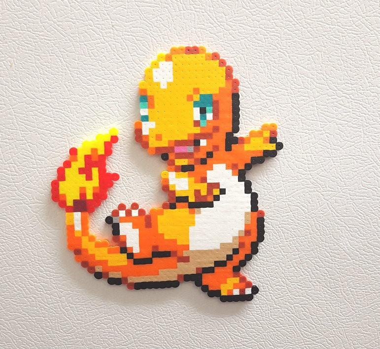 Drawn pixel art charmeleon Perler item? 8 Art Pokemon