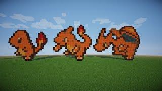 Drawn pixel art charmeleon Pokemon Videos Art & ✅