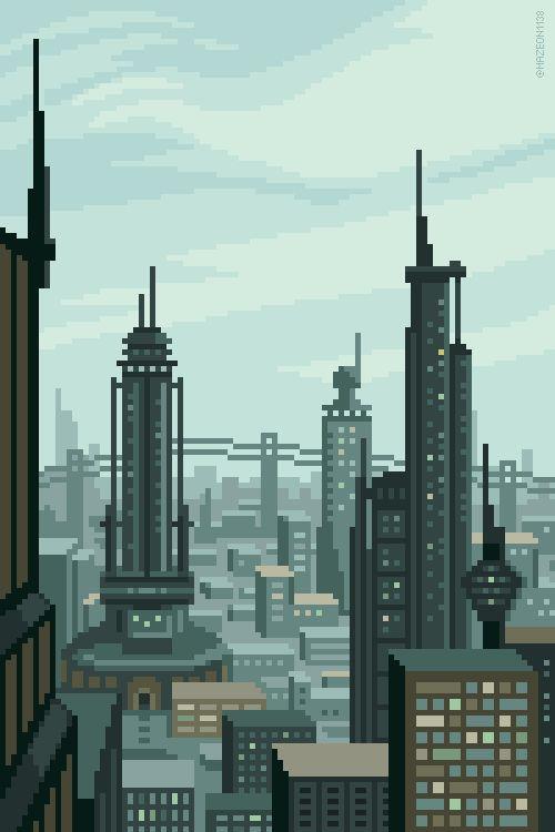 Drawn pixel art classic Background by @Planet art pixel