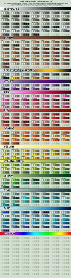Drawn pixel art color Com/art/Pixel CHARACTER Pallete Art