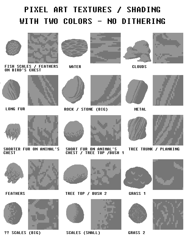 Drawn pixel art color UszatyArbuz + examples art bitmap