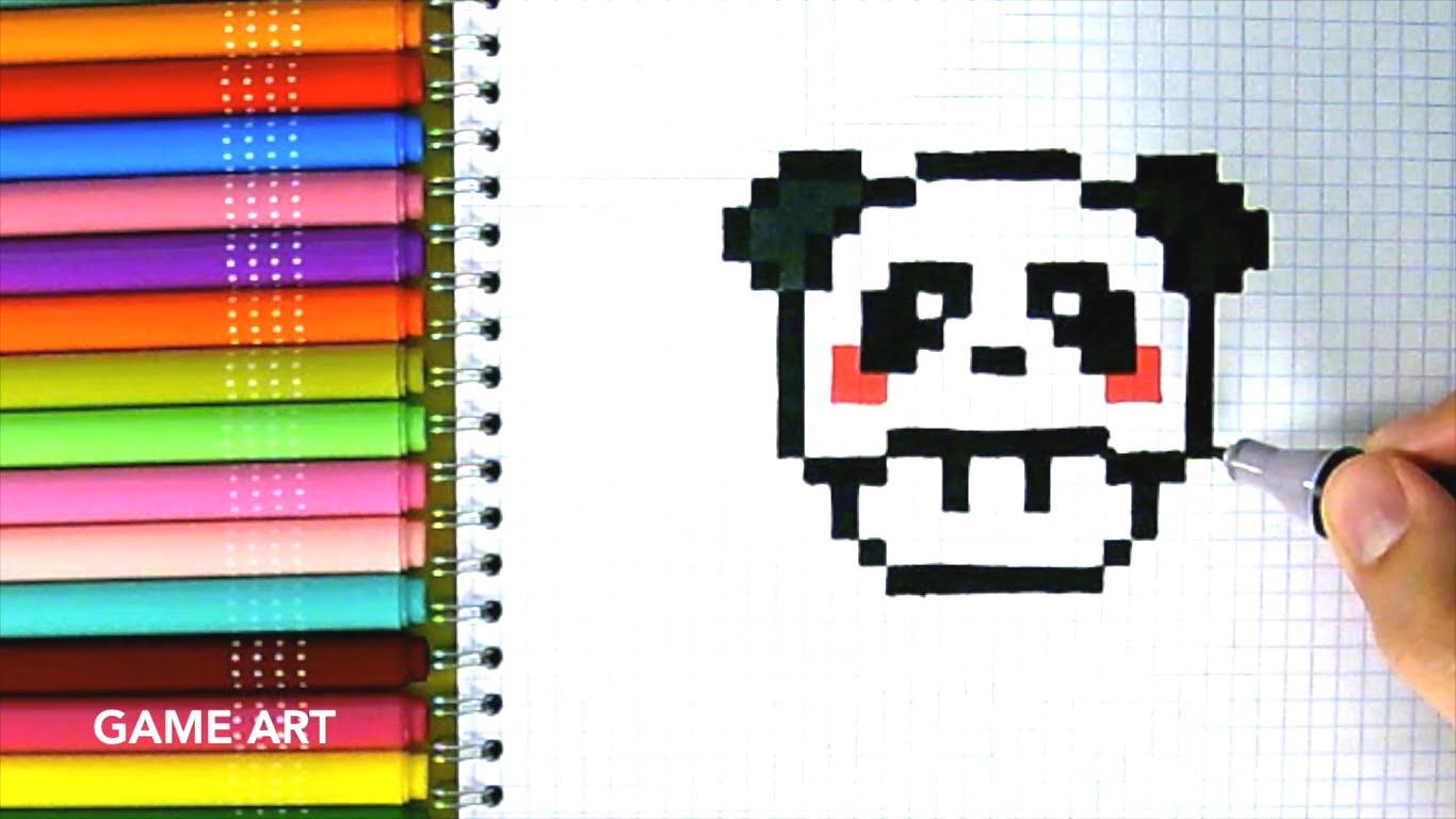 Drawn pixel art cute panda DRAW ART TO HOW TO