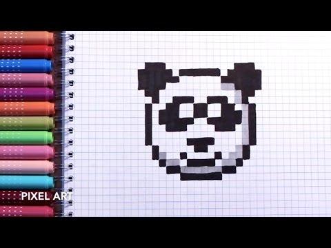Drawn pixel art cute panda EASY ART PIXEL ART PIXEL