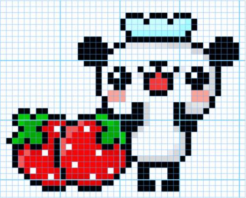 Drawn pixel art cute panda  Classics Artworks Art Is