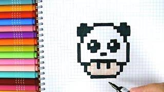 Drawn pixel art cute panda And PIXEL months Mp3/Mp4 Play