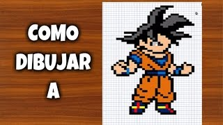 Drawn pixel art dbz : Goku Z draw DIBUJAR