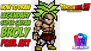 Drawn pixel art dbz