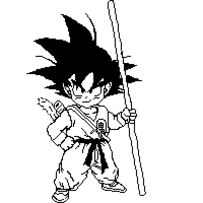 Drawn pixel art dbz Ball white Kid and IvoryMalinov