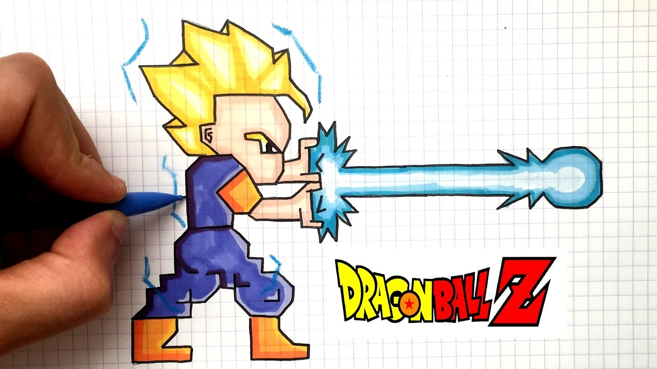 Drawn pixel art dbz YouTube PIXEL 2 GOHAN DBZ